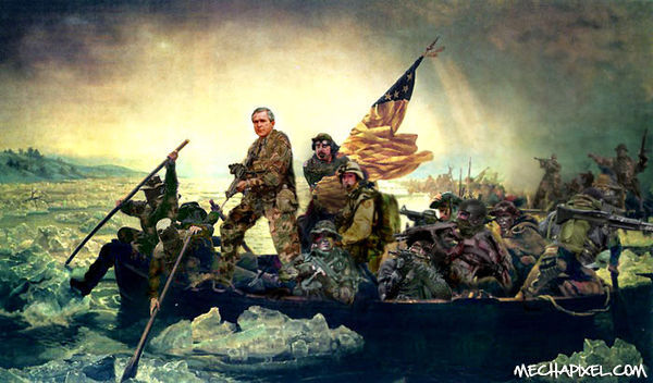 George Bush Crossing the Delaware